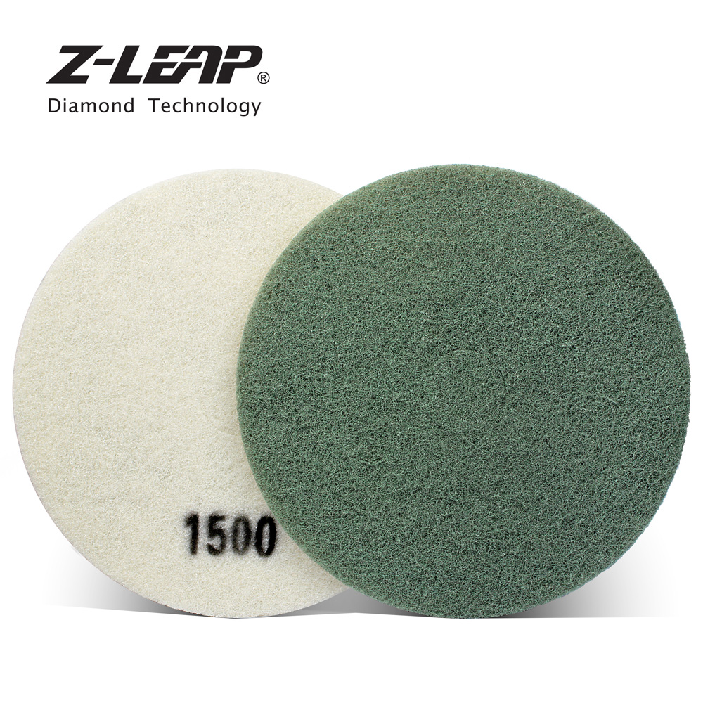 цена на Z-LEAP 17 Diamond Sponge Fiber Pad For Cleaning Stone Diamond Grinding Of Concrete Marble Granite Floor Clean Scrubber Sponge