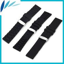 Silicone Rubber Watch Band 23mm for Fibit Blaze Samrt Fitness Watch Hidden Clasp Strap Wrist Loop Belt Bracelet Black + Tool