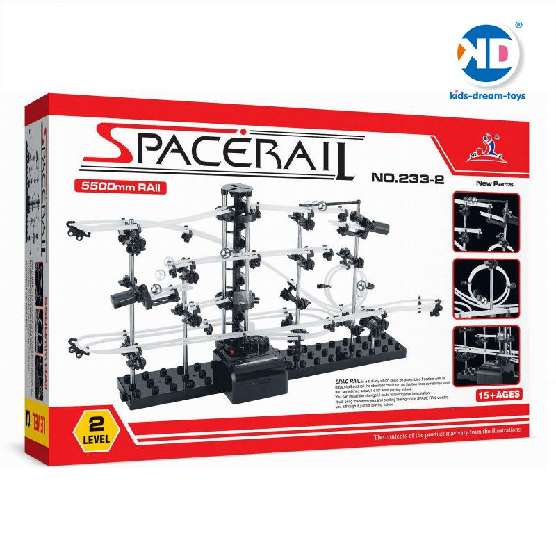 Spacerail (#233-2) Beginner Level Space Rail DIY Toys Kids Play indoor Roller Coaster Present For Boys Model Building