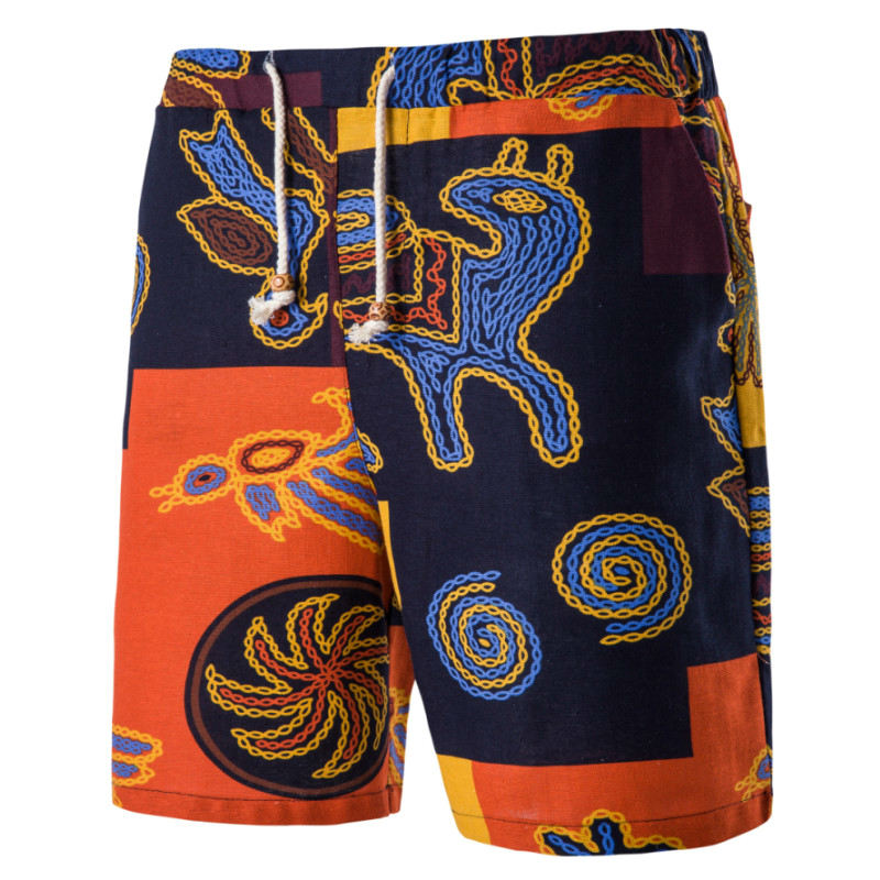Mens Beach Shorts Personality Printing 2018 Summer Thin Section Breathable Comfort Casual Mens Linen Shorts Large Size M-6XL