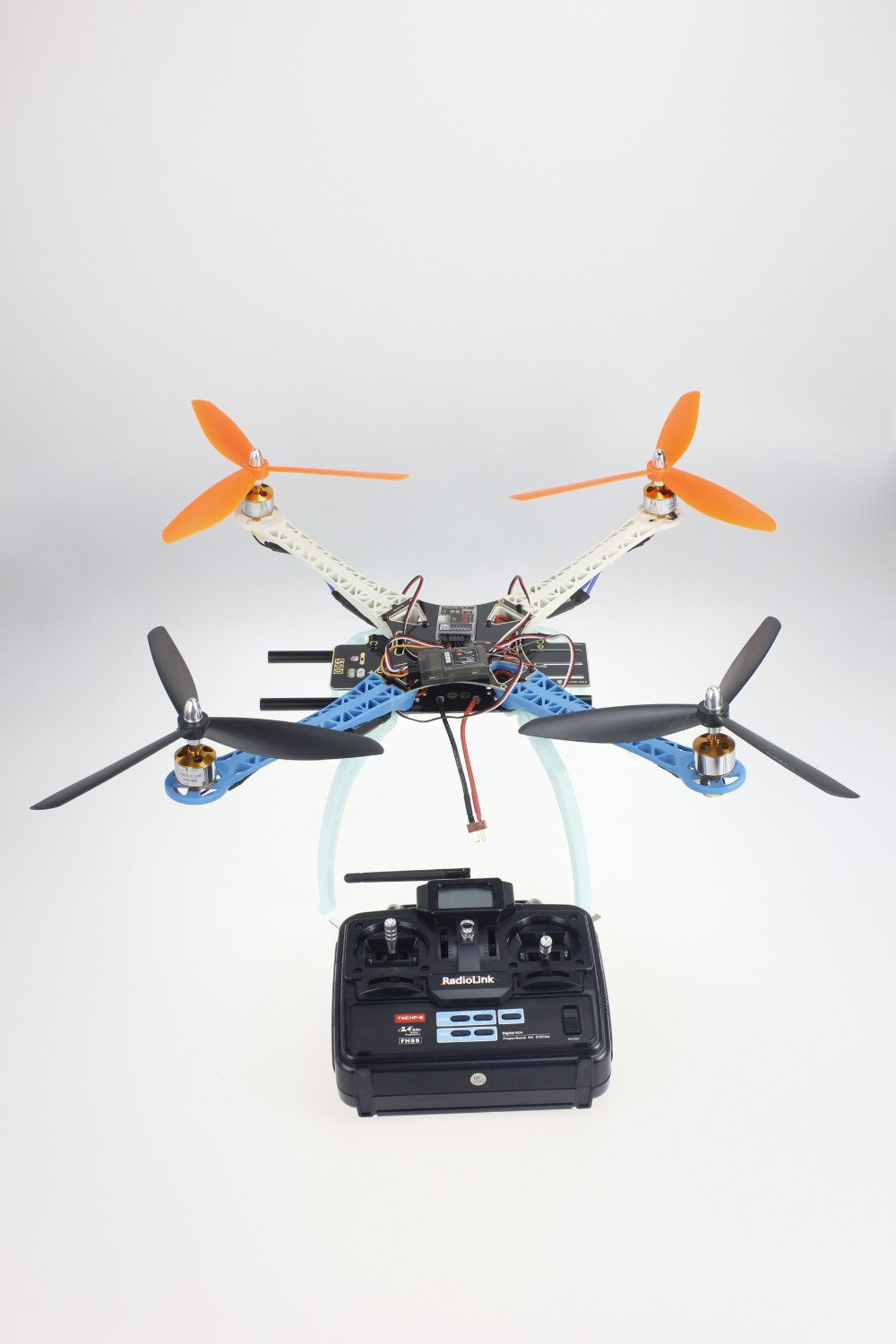 JMT  DIY Drone Multicopter Upgraded Full Kit S500-PCB 1045 3-Propeller 4axle QuadCopter UFO RTF/ARF No Battery / Charger jmt diy drone f550 multi rotor full kit 1045 3 props 6 axle rc multi hexac