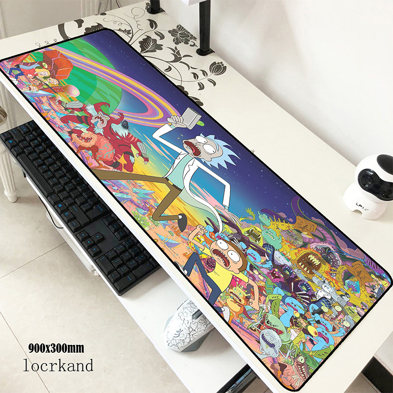 Rick And Morty Mouse Pad 90x30cm Mousepads Big Best Gaming Mousepad Gamer Halloween Gift Personalized Mouse Pads Keyboard Pc Pad