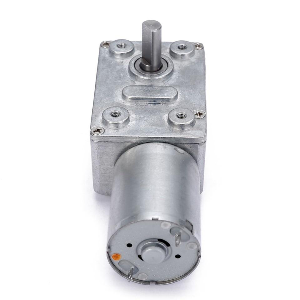 Riduttore Velocit/à Motore Elettrica Ingranaggio Coppia Elevata Basso Numero Cambio Metallo DC 6V Argento 100rpm