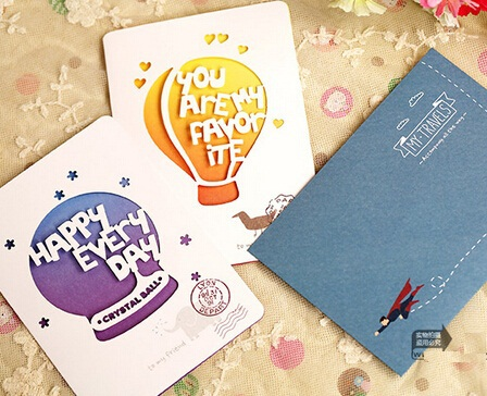 Hot selling new arrival fashion cute retro Simple Life series hollow style card set.retail great deal