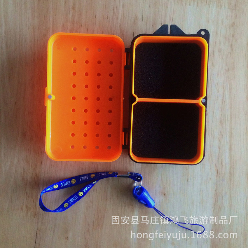 Image 4 - Multifunctional 2 Compartments Fishing Box 10*6*3.2cm Plastic Earthworm Worm Bait Lure Fly Carp Fishing Tackle Box Accessories-in Fishing Tackle Boxes from Sports & Entertainment