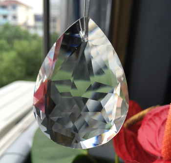Free shipping AAA quality leaf shape 50mm Clear Bauhinia Faceted Shape Clear Crystal Hanging Suncatchers Prisms (144pcs/lot)