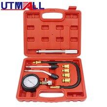 Kit de herramientas para probador de compresión de motor de gasolina, con barra de extensión 0 ~ 300psi M10 M12 M14 Adaptador M18