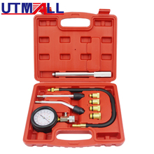 Petrol Engine Compression Tester Tool Kit With Extension Bar 0~300psi M10 M12 M14 M18 Adaptor