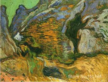 art Oil paintings The gully Peiroulets Vincent Van Gogh reproduction Handmade High quality