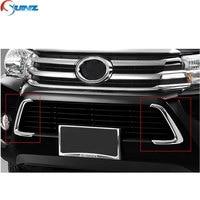 Accesorios de coche moldura decorativa cromada de rejilla para Toyota Hilux Revo 2016-2019