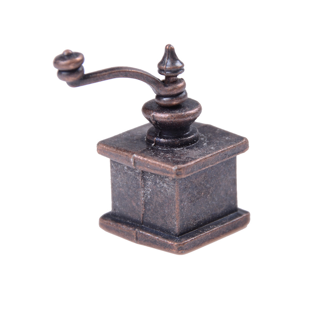 New 1/12 Dollhouse Miniature Kitchen Vintage Coffee Grinder For Doll Gift