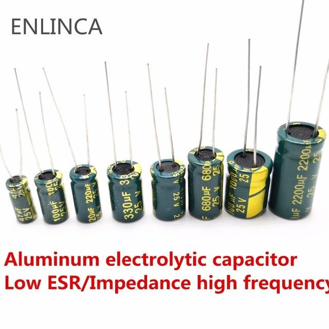 5-20pcs 10V 16V 25V 35V 50V Low ESR high frequency aluminum capacitor 47UF 100UF 220UF 330UF 470UF 680UF 1000UF 1500UF 2200UF 2