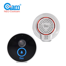 COOLCAM Video Doorbell Door Bell Kits Wi-Fi HD 720P Camera+Indoor Mini Loudspeaker