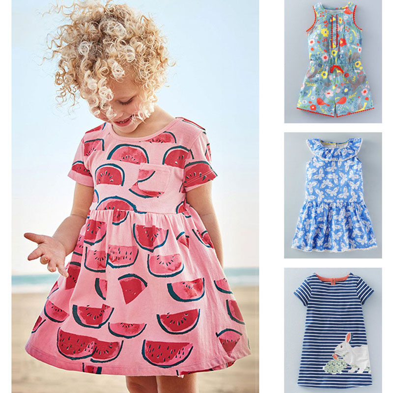 New 2017 Quality Brand 100% Cotton Baby Girls Dresses Summer Children Clothing Short Sleeve Kids Striped Dress Baby Girl Clothes 2016 new girls clothes brand baby costume cotton kids dresses for girls striped girl clothing 2 10 year children dress vestidos
