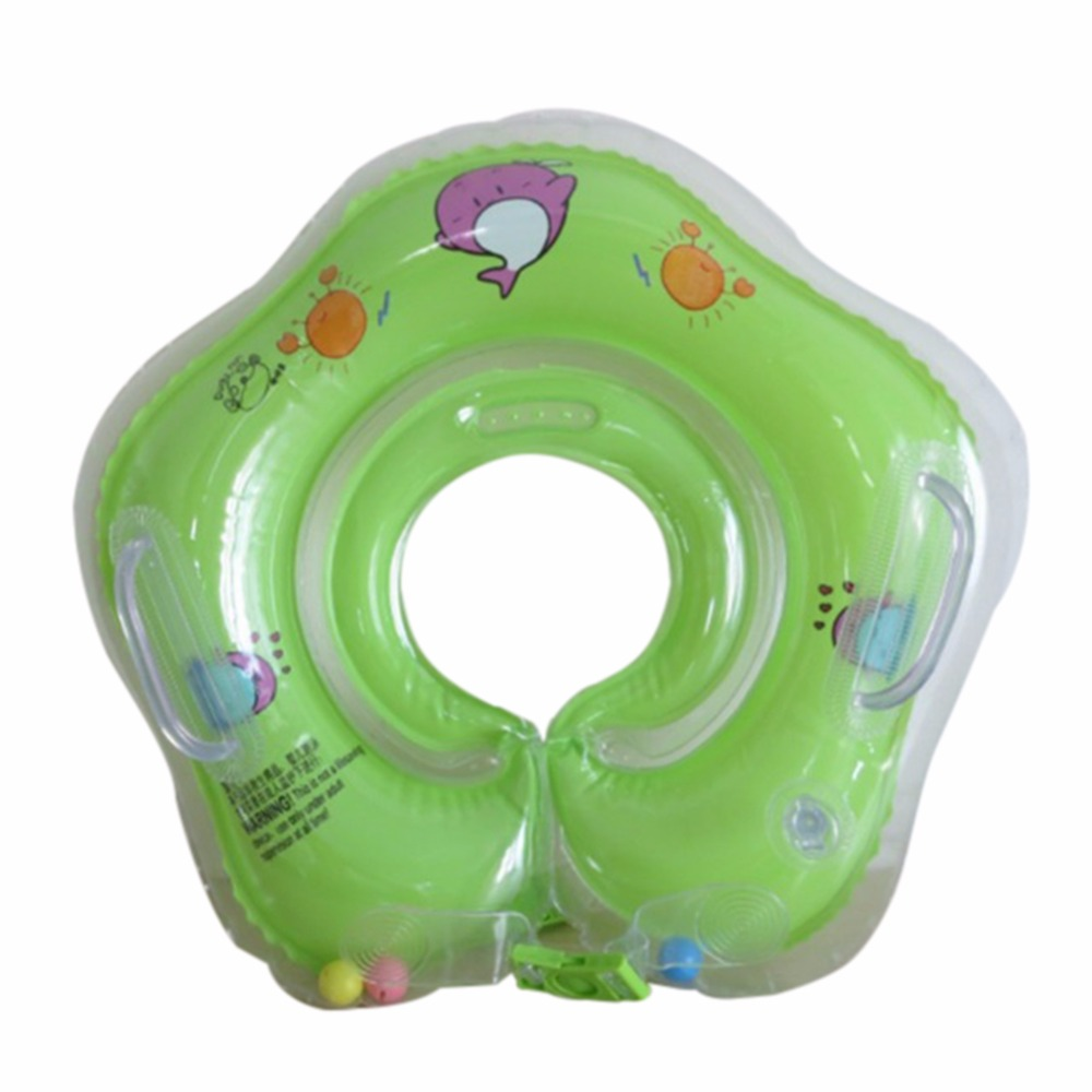 Baby Kid Swimming Neck Ring Kid Inflatable Pool Bath Float Tube Trainer for 9-24 Months Toddlers