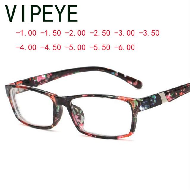 רטרו כיכר משקפיים סיים פרח רגליים אדום קוצר ראייה משקפיים Eyewear-100-150-200-250- 300-350-400-450-500-550-600