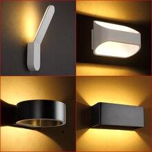Современный светодиодный светильник, настенный светильник в скандинавском коридоре, бра для гостиной, прикроватное освещение для спальни, водонепроницаемые уличные настенные светильники