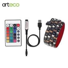 24Key IR Remote / Mini 3Key controller USB LED Strip 5050 RGB IP20 / IP65 waterproof TV Background Lighting 0.5M 1M 2M led strip