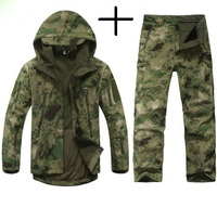 Tactical TAD Gear Shark Skin Soft Shell Camouflage Outdoor Jacket Sport Waterproof Jacket Hunting Clothes Military Jacket Pants