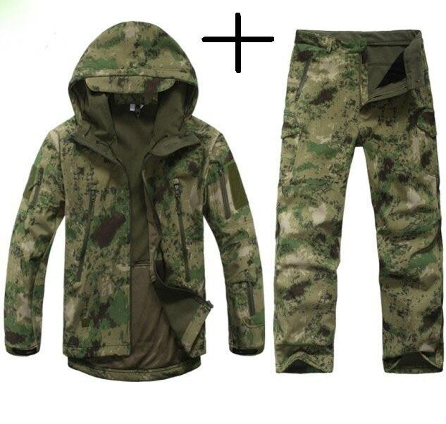 Tactique TAD Vitesse Requin Peau Soft Shell Camouflage Veste En Plein Air Sport Veste Imperméable Vêtements de Chasse Militaire Veste Pantalon