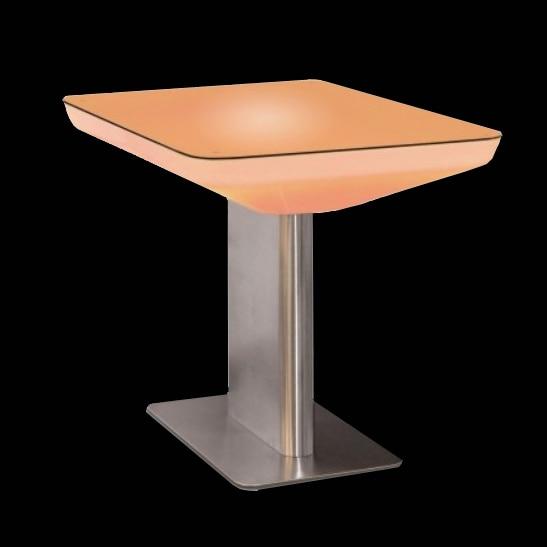 RGB multi colore che cambia illuminazione tavolino RGBW Polythylene PE Materiale tavolo da cocktail SK-LF22 (L88 * W54 * H76cm) 2 pz/lotto