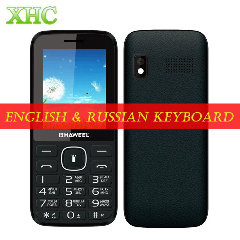 Original Haweel X1 Russian Keyboard Elders Mobile Phone 2 4 inch GSM 2G Cellphone Dual SIM