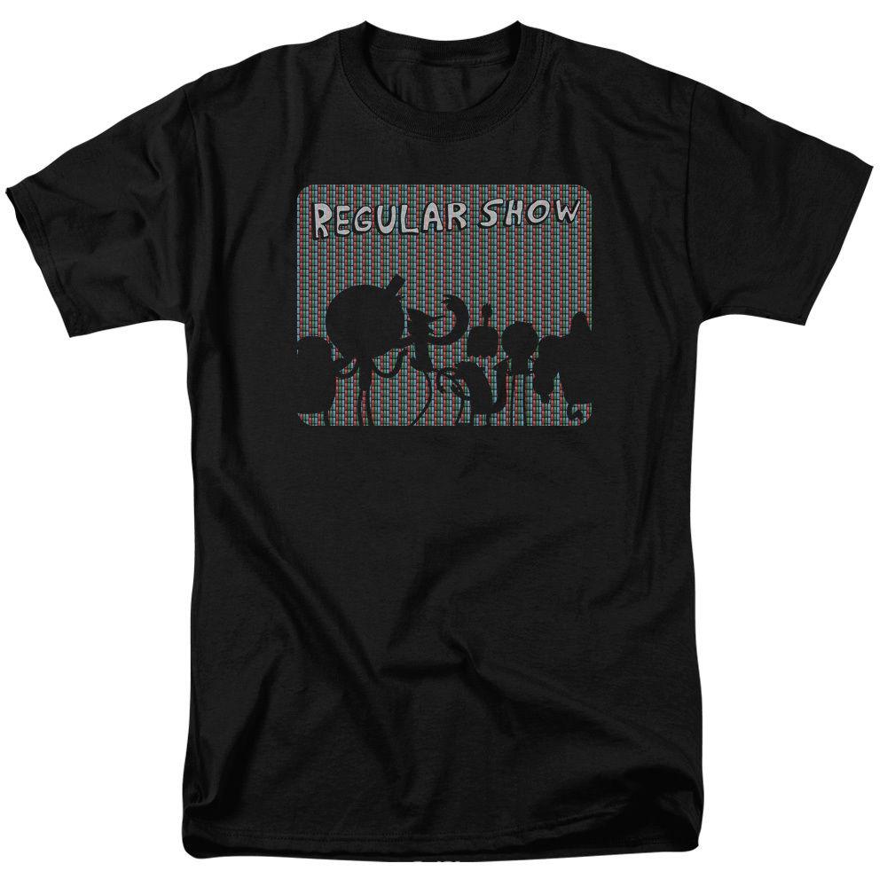 Shirt design san diego - Summer Style Hip Hop T Shirt Tops Gildan Short Regular Show Cartoon Nextwork Rgb Screen Crew Neck Zomer T Shirts For Men