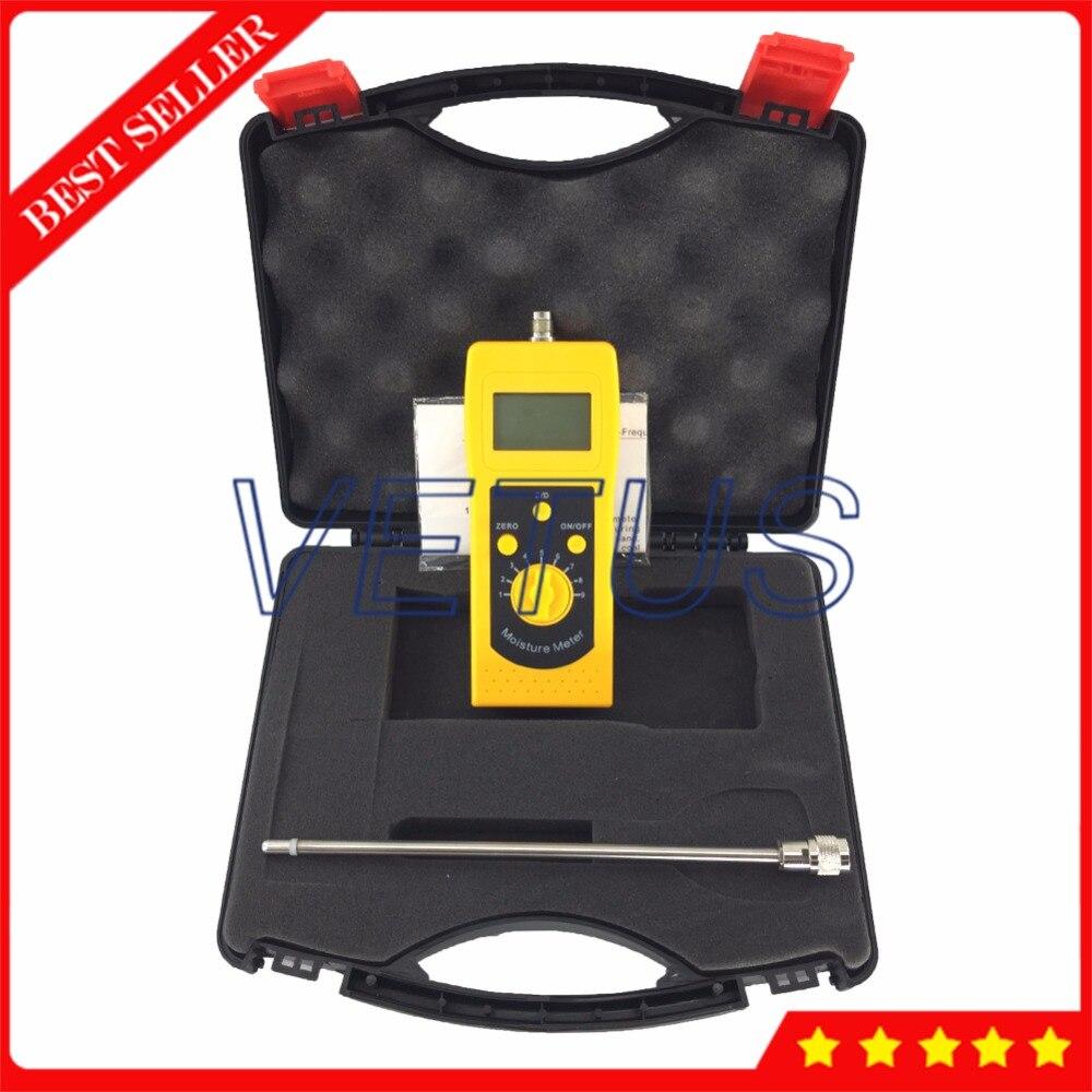 Medidor digital de humedad de arena plateada LCD de alta frecuencia 4 para el analizador de humedad del polvo de carbón del contenido del suelo DM300S - 6