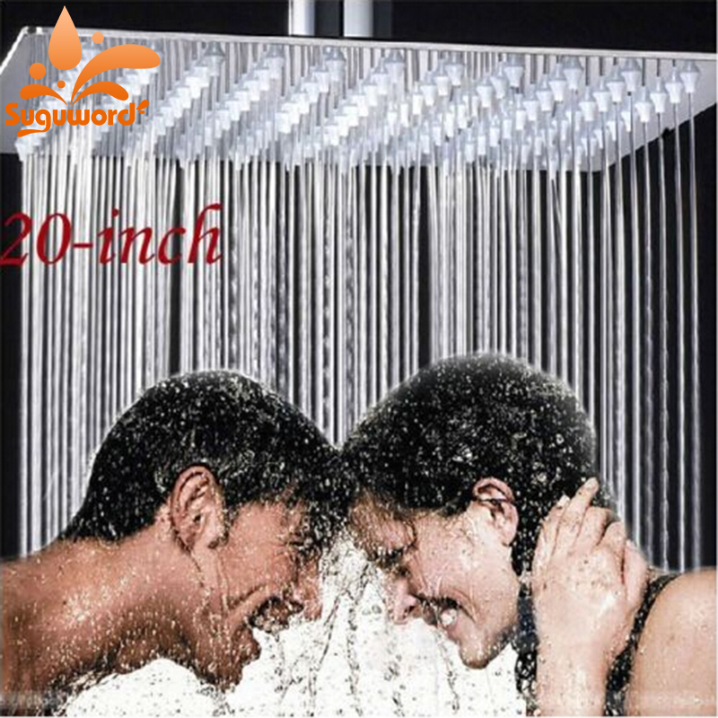 Luxury Chorme Polish Shower Head Brass Rainfall 20-in Shower Over-Head Sprayer футболка print bar beautifully in over my head