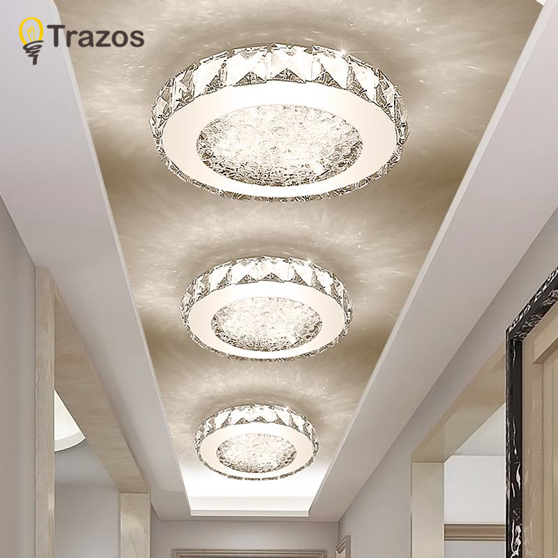 Modern LED ceiling Lights Crystal Ironware + Acrylic light bedroom lamps Smart ceiling lamp Room Bedroom Kitchen Balcony lamp