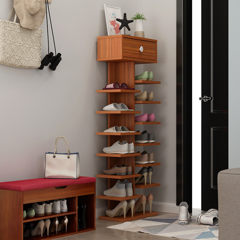 Simple Modern Shoe Rack Simple Door Multi layer Shoe Storage Household Shoes Shelf Large Capacity Storage Economical Space Rack