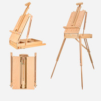Easel Caballete Pintura Portable Painting Stand Artist Oil Paint Wooden Easel Box Painting Accessories Multifunction Table Easel