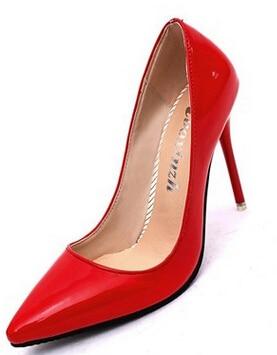 10cm New 2016 arrivel women shoes high heel Shoes women pumps high heels shoes woman wedding shoes Red Black Pumps