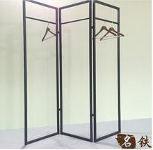 Women's clothing shelf screen frame island contracted floor type shelf
