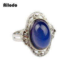 Ailodo Vintage Color Change Mood Rings For Women Magic Emotion Feeling Changeable Ring Temperature Control LD058