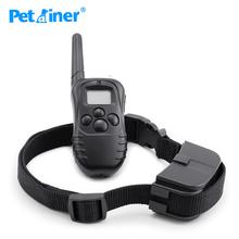 Oryginalny Petrainer 998D-1 300m LCD pilot elektryczny obroże dla psów dla pies treningowy i obroża do szkolenia psów tanie tanio Obroże szkoleniowe Z tworzywa sztucznego Original Petrainer Products 300 meters Black Shock Vibration Beep 100 Levels