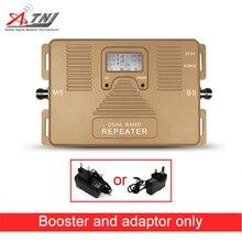 トップ品質! 2 グラム + 3 3g 携帯の信号ブースター、 2 グラム、 3 グラム 900/2100 mhz 、デュアルバンド携帯信号アンプのみリピータとアダプタ