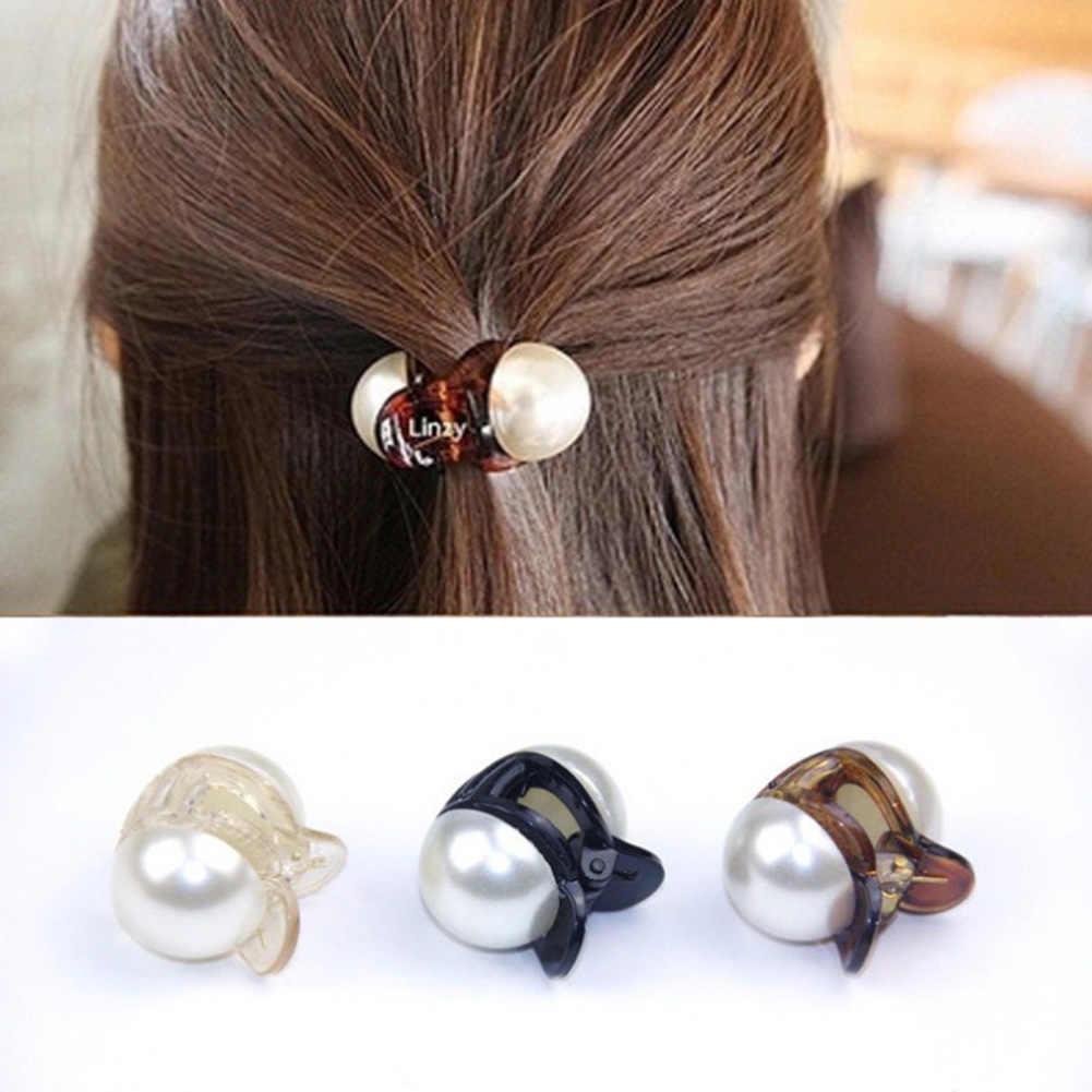 1 adet saç aksesuarları saç pençe tokalarım kore Mini saç klipleri moda zarif kızlar inci saç yengeç saç yengeç klipler şekillendirici