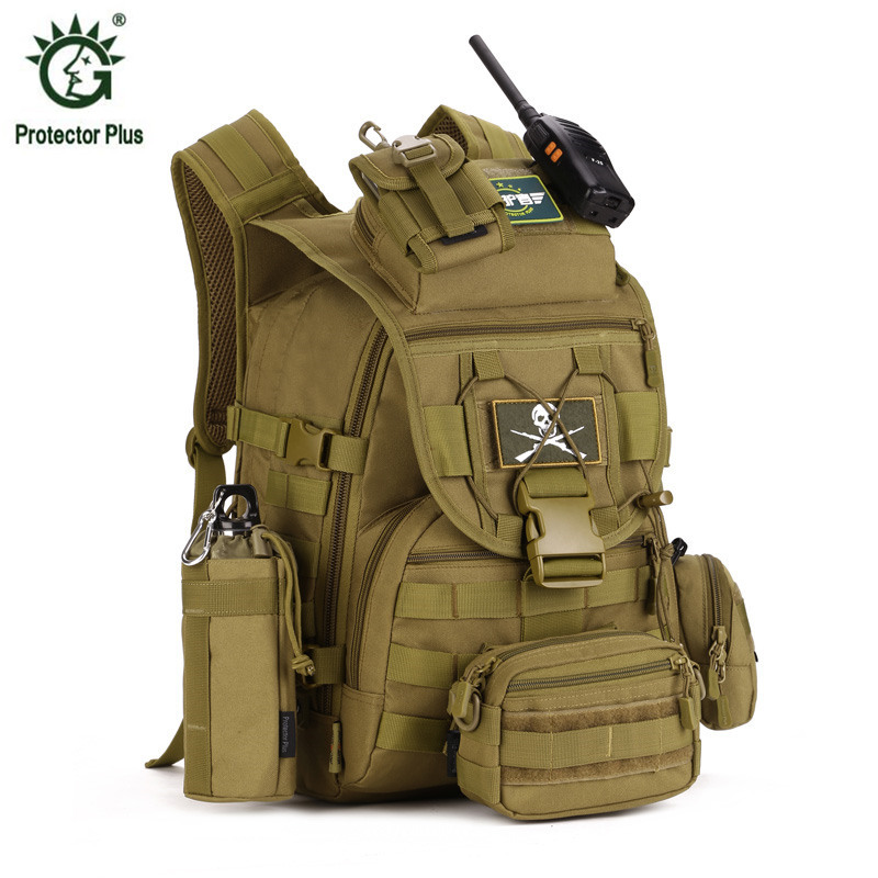 5pcs/set Molle Military Tactical Backpack Rucksack Waterproof nylon Travel Sport Bag Outdoor Camping Hiking Climbing Backpacks 40l 3d outdoor sport nylon military tactical backpack rucksack travel bag camping hiking climbing bag