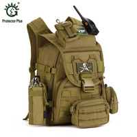 5pcs/set Molle Military Tactical Backpack Rucksack Waterproof nylon Travel Sport Bag Outdoor Camping Hiking Climbing Backpacks
