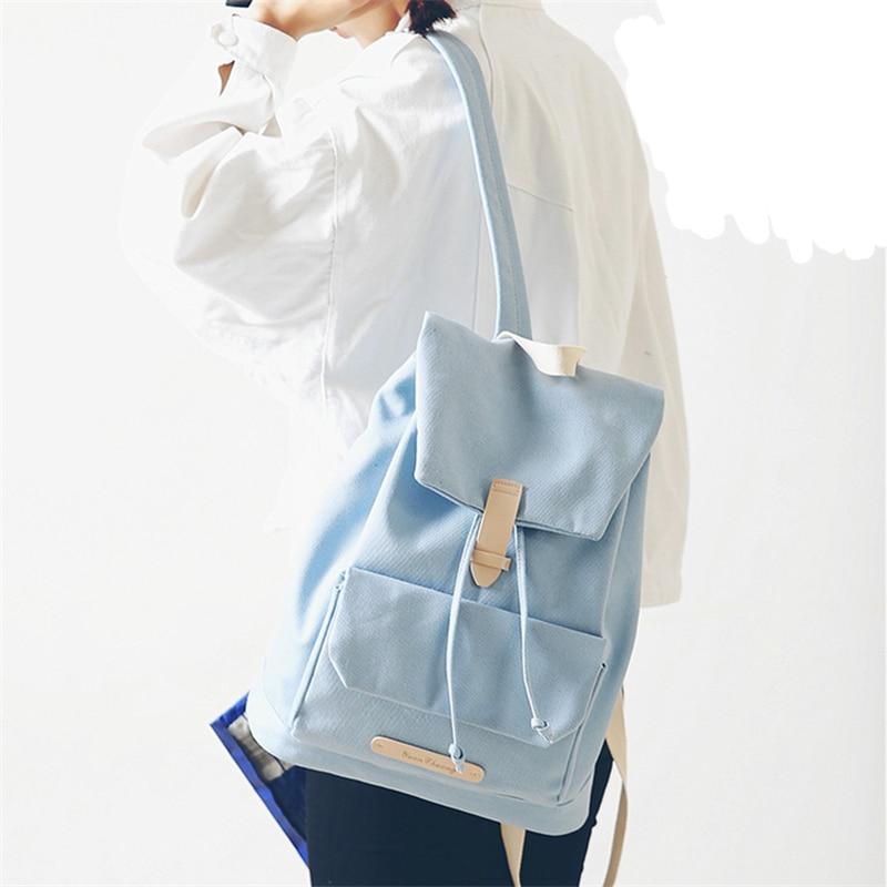 Mori Girl Harajuku Vintage Canvas Backpack Girl Fashion Korean Style Travelling Bag Fresh High School Boy
