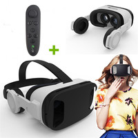 Super VR Glasses Virtual Reality for ZTE LG Xiaomi Eyeglass 3D Movie Play Game Video Headset VR Goggles Build In 3D Headphone