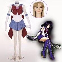 Athemis Аниме Sailor Moon Dress Томоэ Хотару/SuperS Сейлор Сатурн Косплей костюм Сшитое Любой Размер
