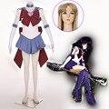 Athemis anime sailor moon dress tomoe hotaru/supers sailor saturn cosplay por encargo cualquier tamaño