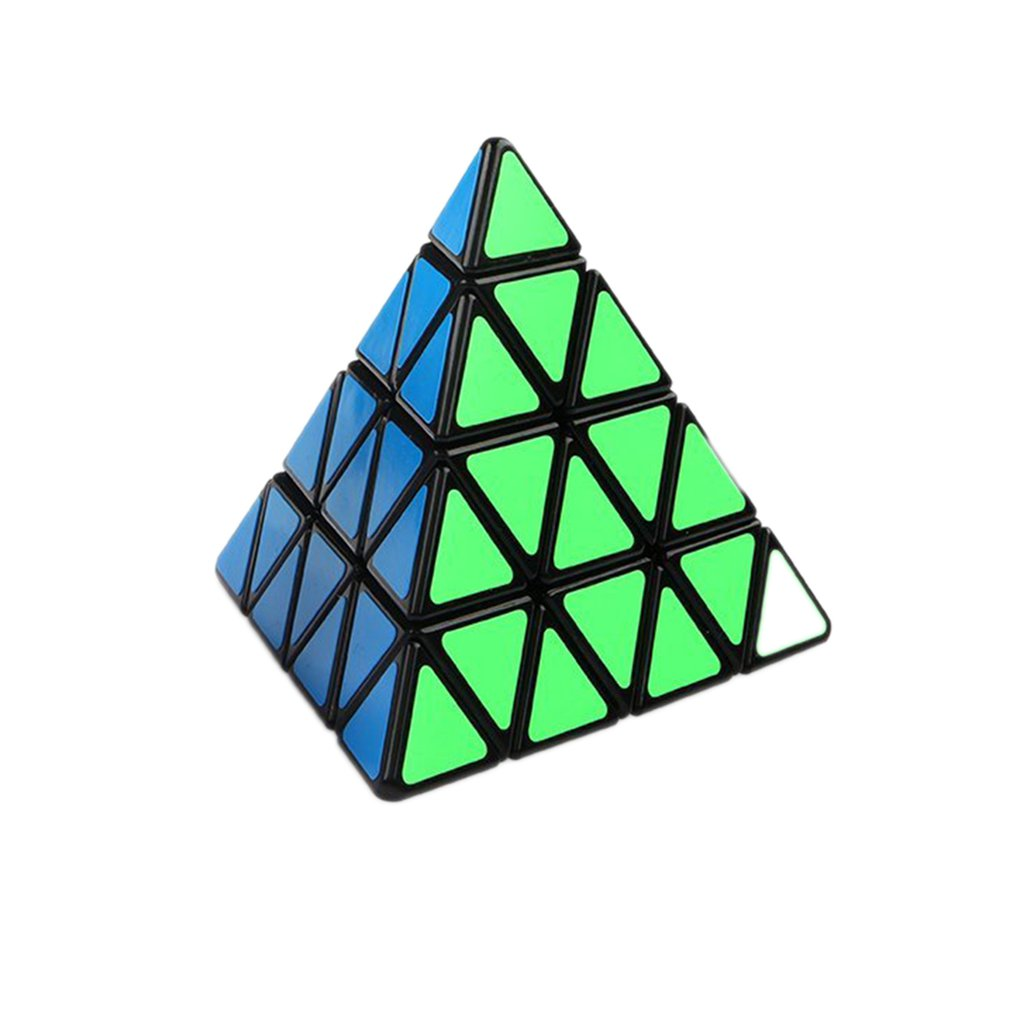 OCDAY Pyramid Third-order Magic cube Puzzle-Shaped Triangle Cubes Rubiks Cube Puzzle Educational Toys for children new sales yj guanlong speed third order magic cube toy