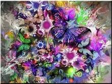 Diamond Embroidery DIY Painting butterfly flowers Cross Stitch Rhinestone Decoration