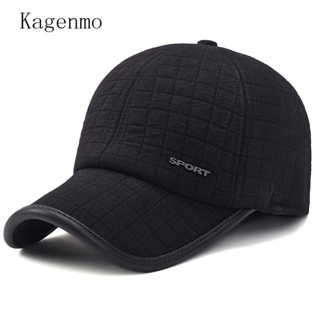 049595d76d8 Kagenmo fashion winter hat man winter keep warm cotton cap windproof ear  protection male vintage sombrero