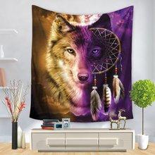 Рисунок волка модный гобелен Подвесной Настенный Гобелен домашний декоративный одеяло пляжное полотенце балдахин для кровати