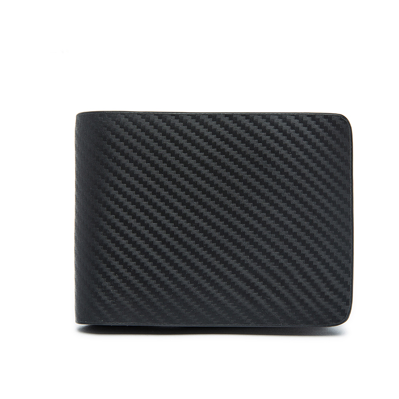 Men Carbon Genuine Leather Wallet for Man Luxury Wallets Men Business Purse Luxury Brand Wallet without Any logo on Wallet цена