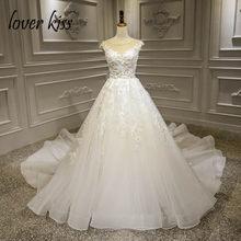Lover Kiss Vestido De Noiva trouwjurk 2019 Lace Flowers Wedding Dresses  Bridal Gowns Beaded Fairy Wedding Dress robe de mariee 3810a3a27fbd